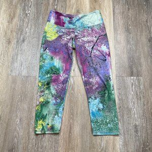 Onzie Sky Nature Yoga Capri Leggings Size XS